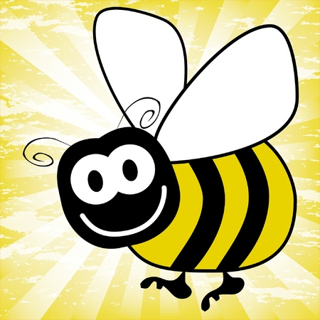 bumble bee: Fun bumble bee vector.