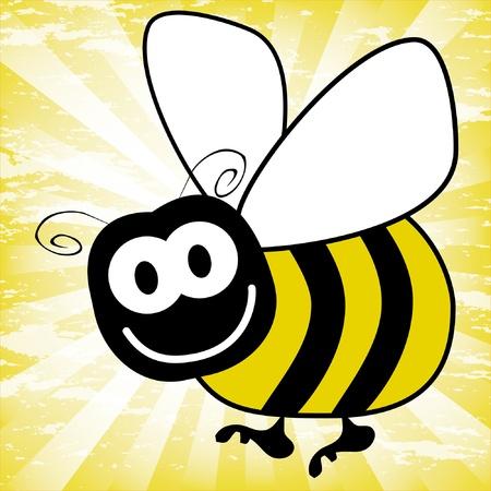 abejas: Vector de divertido bumble bee.