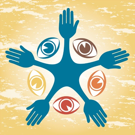 Colorful eye people design. Stock Vector - 9683489