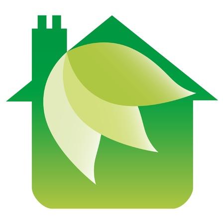 Eco friendly house design.  Vector