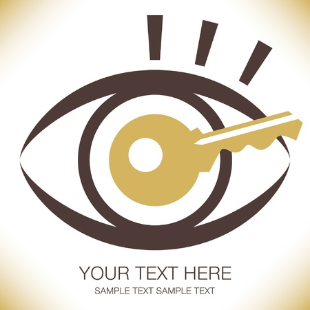 Striking key eye design.  Vector