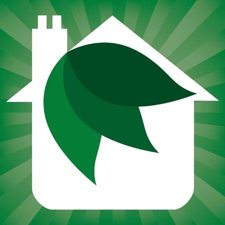 Eco friendly house design.  Stock Vector - 9718851