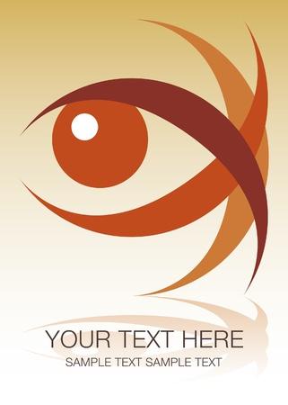 eyelids: Striking eye design with copy space.