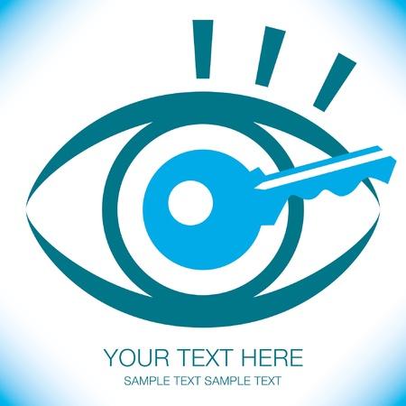 Striking key eye design. Stock Vector - 9719348
