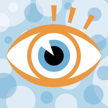 eyelids: Striking eye design.