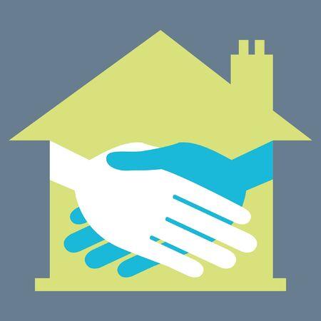 Property or real estate handshake design. Stock Vector - 9720217