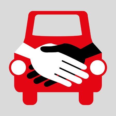 Car handshake design. Stock Vector - 9720218