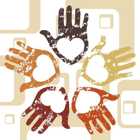 Grunge hands design.