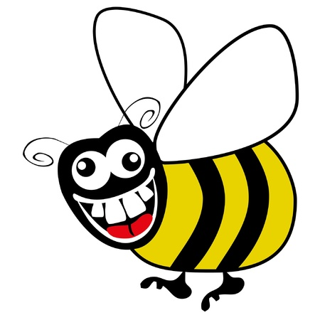 Crazy hungry bumble bee vector. Stock Vector - 10043860