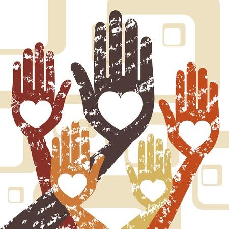 Grunge hands vector design.  Illustration
