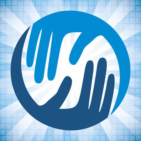 caring hands: Natuurlijke Zorg handen ontwerp.