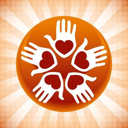 United loving people design. Stock Vector - 10043941