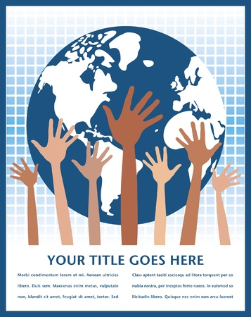 People of the world vector design with copy space.  Vector