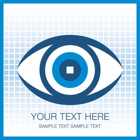 La conception des yeux de frappe, avec copie espace.