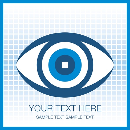 Striking eye design with copy space. Stock Vector - 10043997