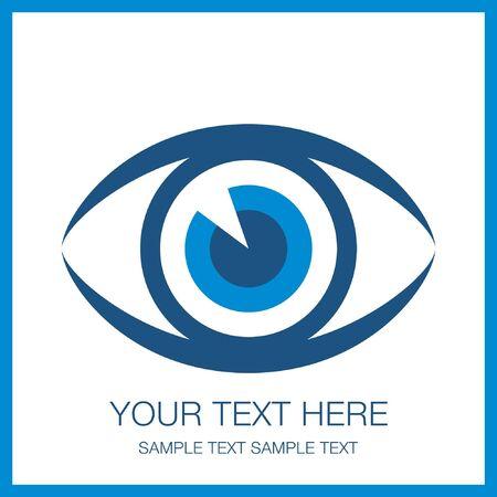 parpados: Impactante dise�o de los ojos, con copia espacio. Vectores