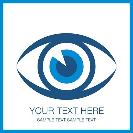 Striking eye design with copy space. Stock Vector - 10225254