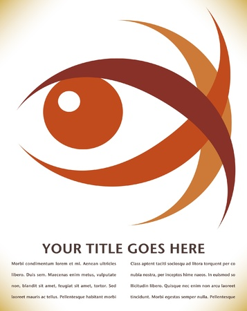 Striking eye design with copy space.  Vector