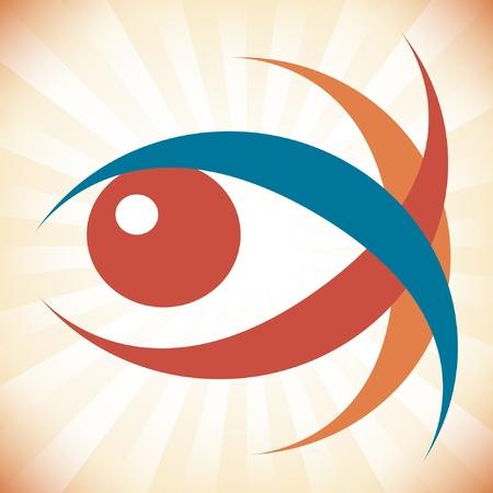 Striking eye design.  Stock Vector - 10259688