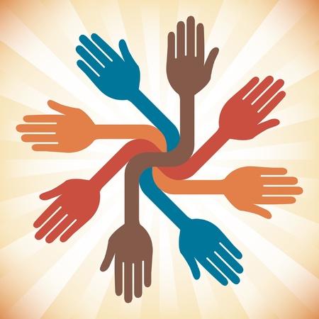 charity work: Lets work together design.