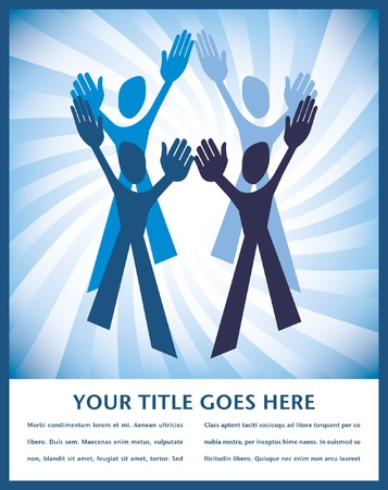 Teamwork design with copy space vector.  Stock Vector - 10284048