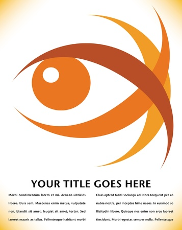 Striking eye design with copy space vector.  Stock Vector - 10316713