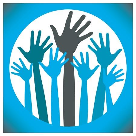 Happy Hands vector ontwerp. Vector Illustratie