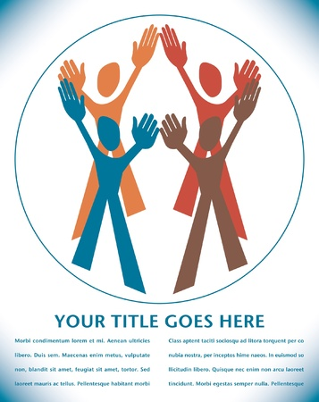Teamwork design with copy space Stock Vector - 10345791