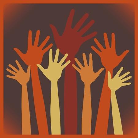 Happy hands design. Stock Vector - 10355448