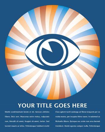 eyelids: Eye sunburst design.