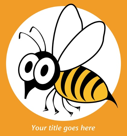 Shocked funny wasp or bee design.  Vector