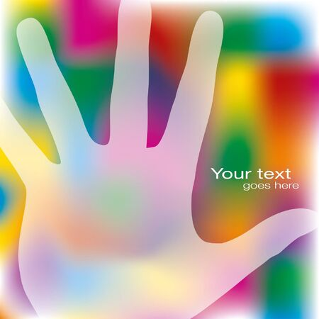 Reaching hands design with copy space.  Vector
