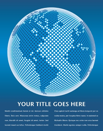 Digital world map design with copy space vector. Stock Vector - 10360946