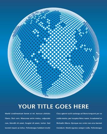 Diseño de mapa del mundo digital con el vector de espacio de copia.  Foto de archivo - 10360946