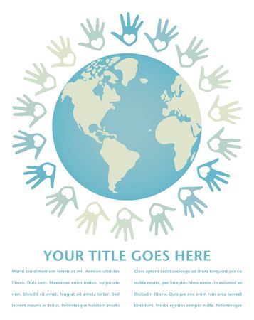 paix monde: Paix dans le monde color� et design vecteur unit�.