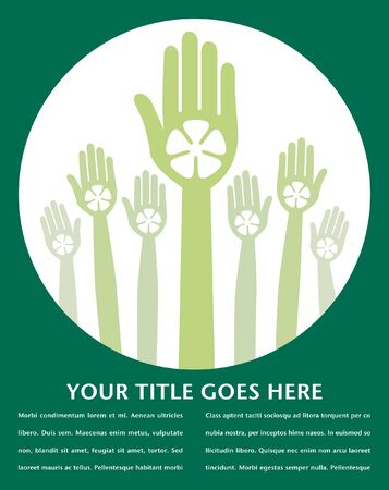 Recycle hands design with text space vector. Stock Vector - 10429724
