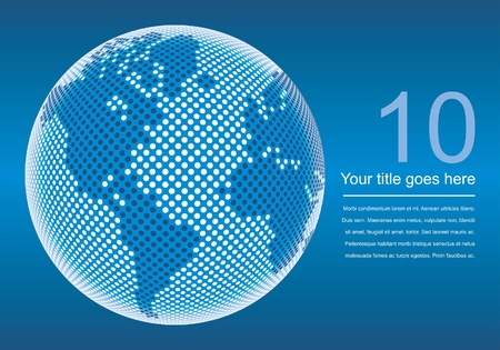 Digital world map design with copy space vector.