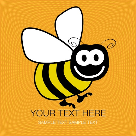 Bumble bee vector design with copy space.  Vector
