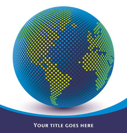 Digital world map design with copy space vector. Stock Vector - 10429755