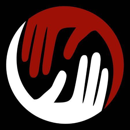 caring hands: Zorgzame handen vector design. Stock Illustratie