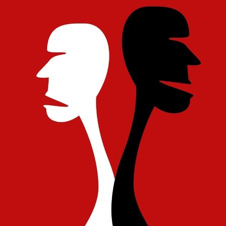 Human disagreement vector illustration.