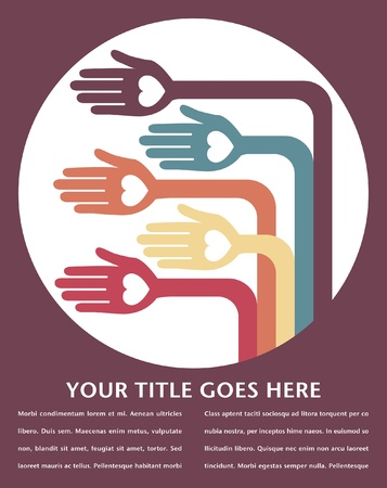 Hand design with text space vector. Stock Vector - 10429785