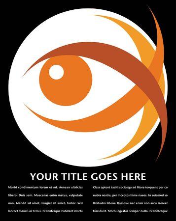 Striking eye design with copy space vector.  Vectores