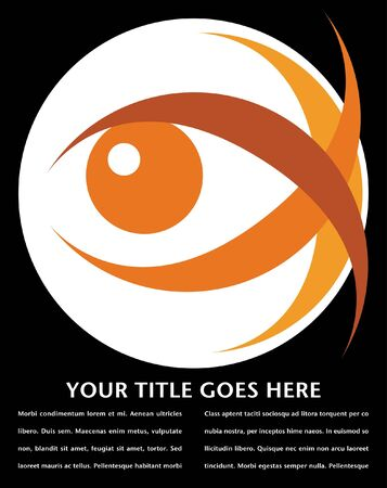 Striking eye design with copy space vector.  Illustration