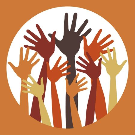 Happy hands design.  Stock Vector - 10458032