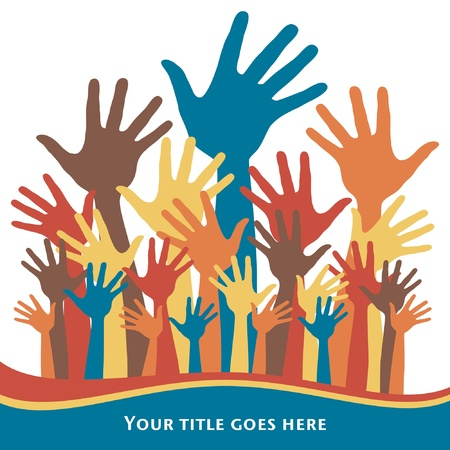Party time hands design. Stock Vector - 10458062