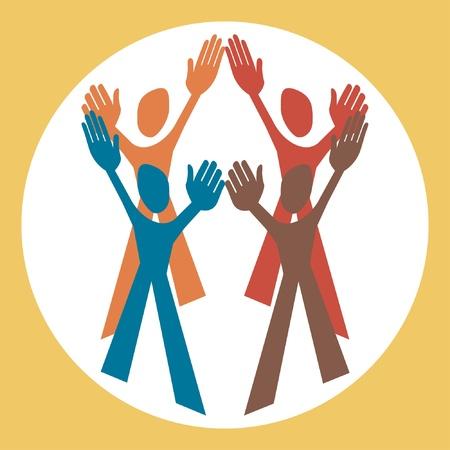 Human teamwork design Stock Vector - 10458024