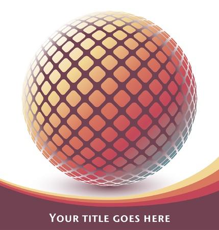 Colorful digital globe design  Иллюстрация