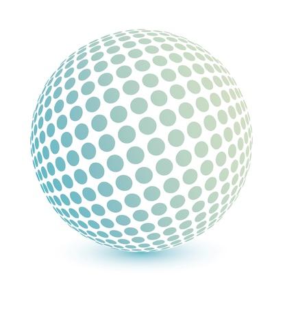 Multicolored globe vector design.  Иллюстрация