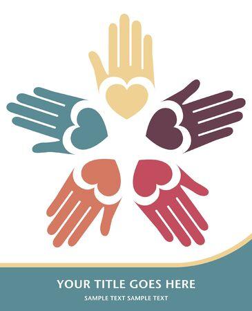 Loving hands vector design.  Illustration